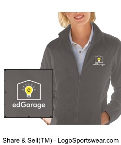 Ladies 8 oz. Full-Zip Fleece Design Zoom